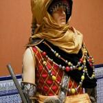 Traje tuareg en el que destaca el turbante