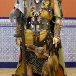Escuadra cristiana muy guerrera en la que destaca su casco.